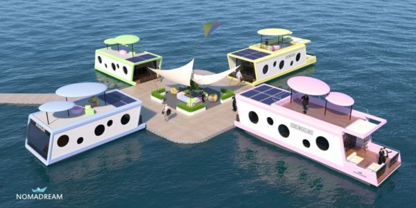 Project of charter houses on the water
