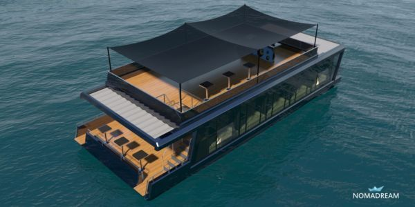 Design restauracji na wodzie NOMADREAM